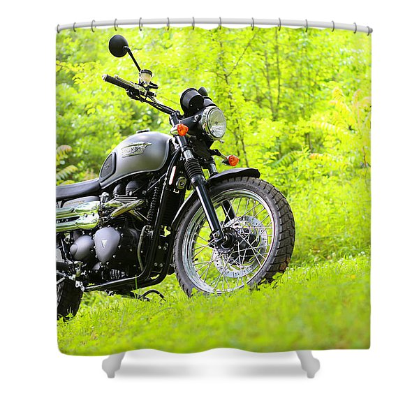 2013 Triumph Scrambler Shower Curtain