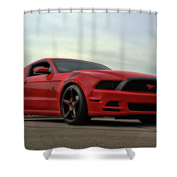 2014 Mustang Shower Curtain