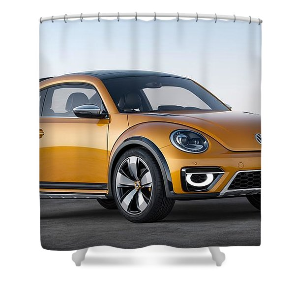 2014 Volkswagen Beetle Dune Concept Shower Curtain