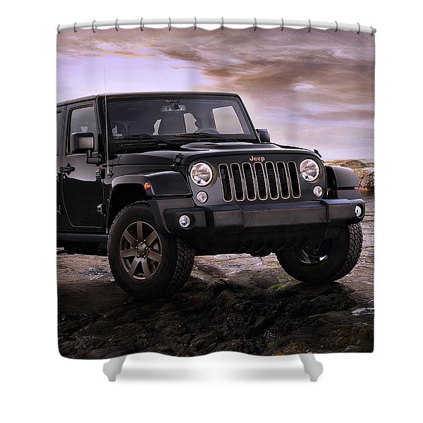 2016 Jeep Wrangler 75th Anniversary Model Shower Curtain