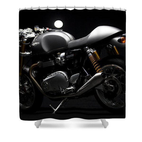 2016 Triumph Thruxton R Shower Curtain