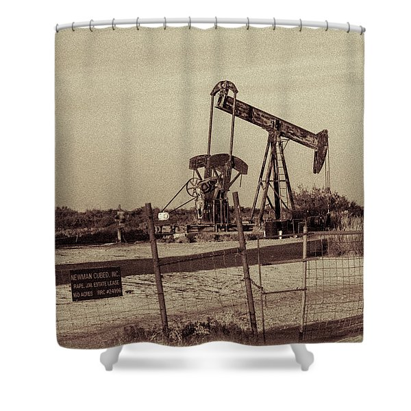 2016_10_pecos Tx_ Pump Jacks 1 Shower Curtain