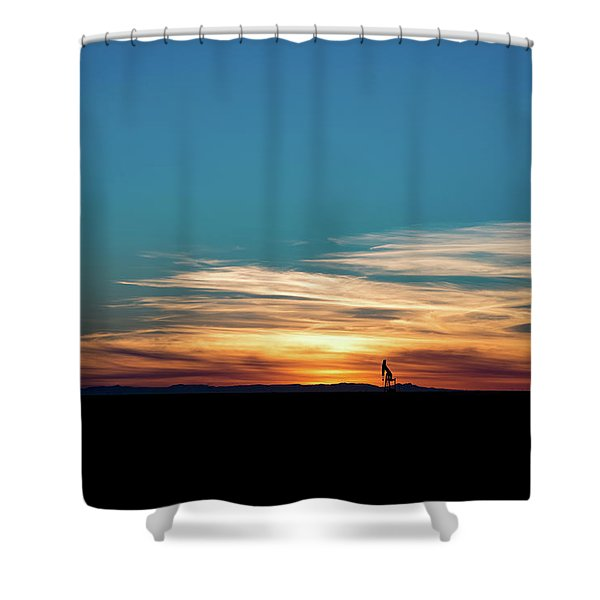 2016_10_pecos Tx_pump Jacks 4 Shower Curtain