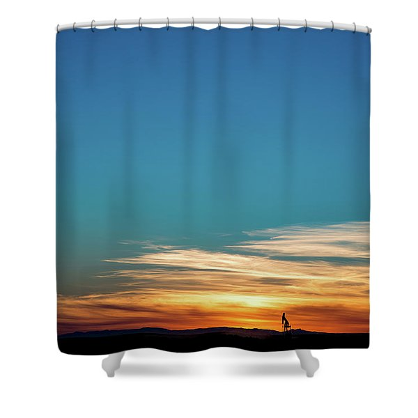 2016_10_pecos Tx_pump Jacks 5 Shower Curtain