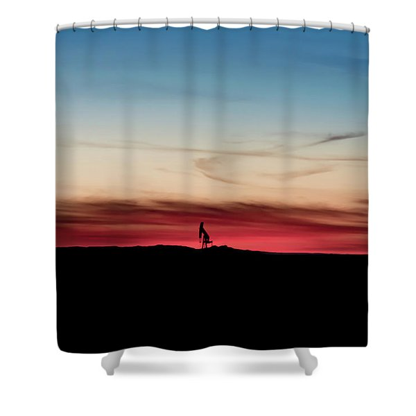 2016_10_pecos Tx_pump Jacks 6 Shower Curtain