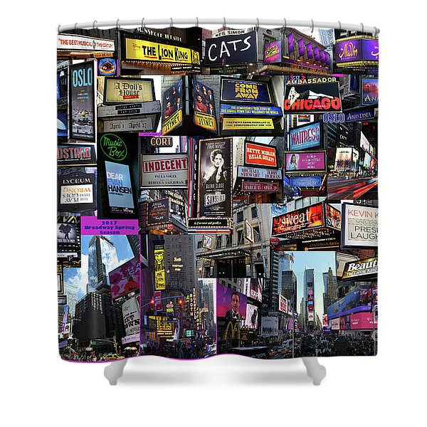 2017 Broadway Spring Collage Shower Curtain