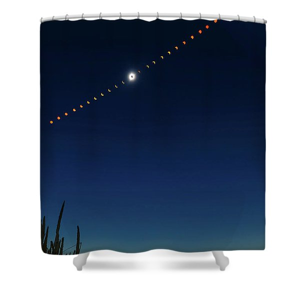 2017 Great American Eclipse Shower Curtain