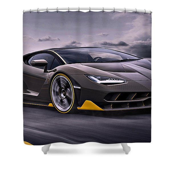 2017 Lamborghini Centenario Shower Curtain