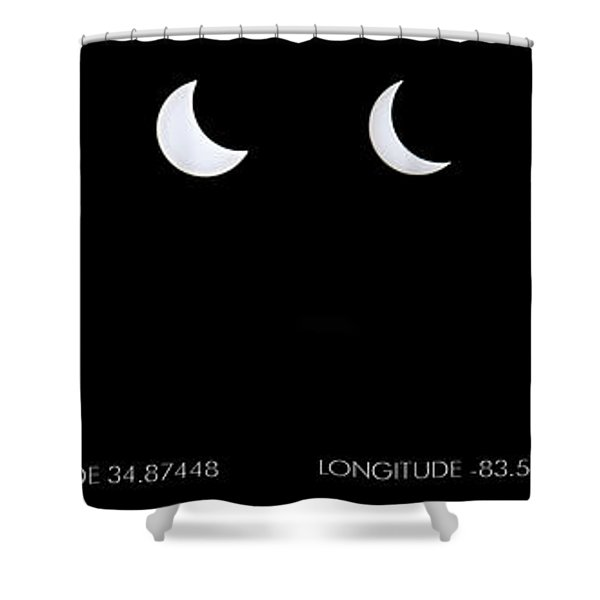 2017 Solar Eclipse Shower Curtain