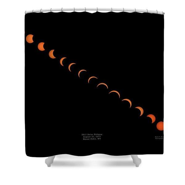 2017 Solar Eclipse Shower Curtain
