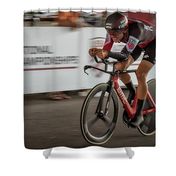 2017 Time Trial Champion Shower Curtain