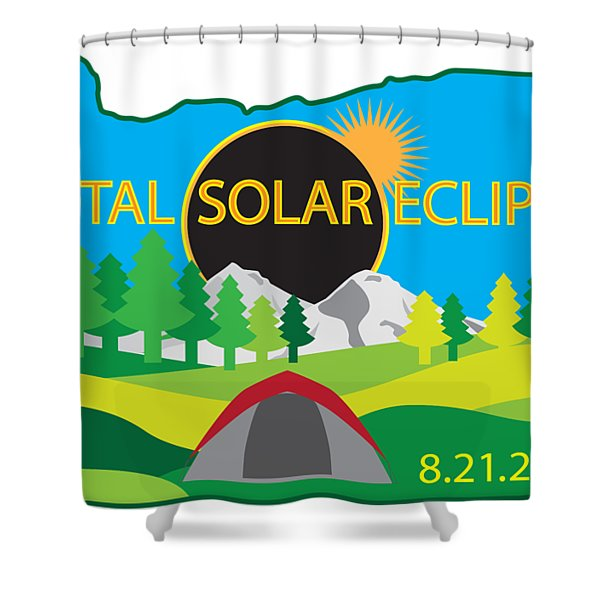 2017 Total Solar Eclipse Camping Trip Map Shower Curtain