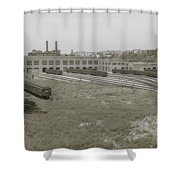 207th Street Railyards Shower Curtain