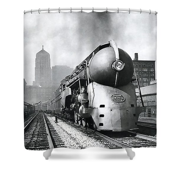 20th Century Limited Streamlined Train  1939 Shower Curtain