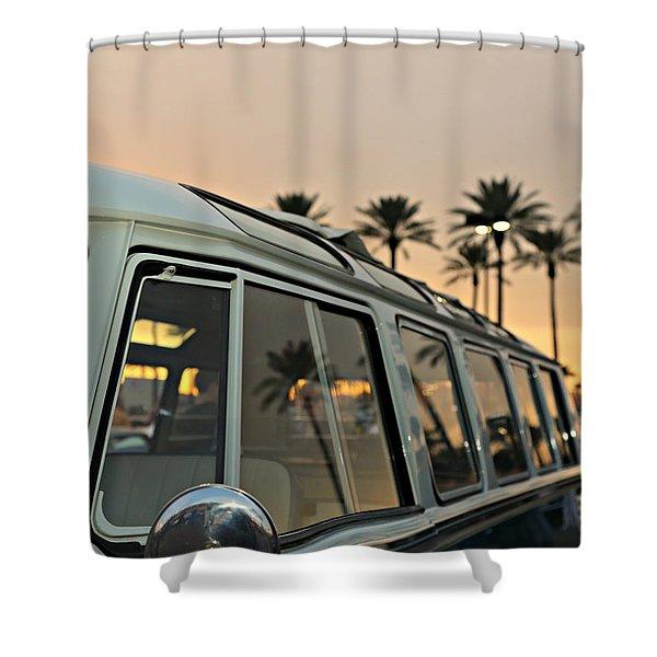 21 Window Sunset Shower Curtain