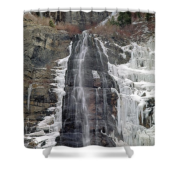 212m40 Bridal Veil Falls Utah Shower Curtain
