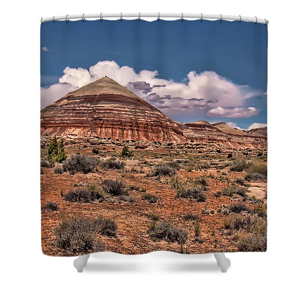 Capitol Reef National Park Catherdal Valley Shower Curtain