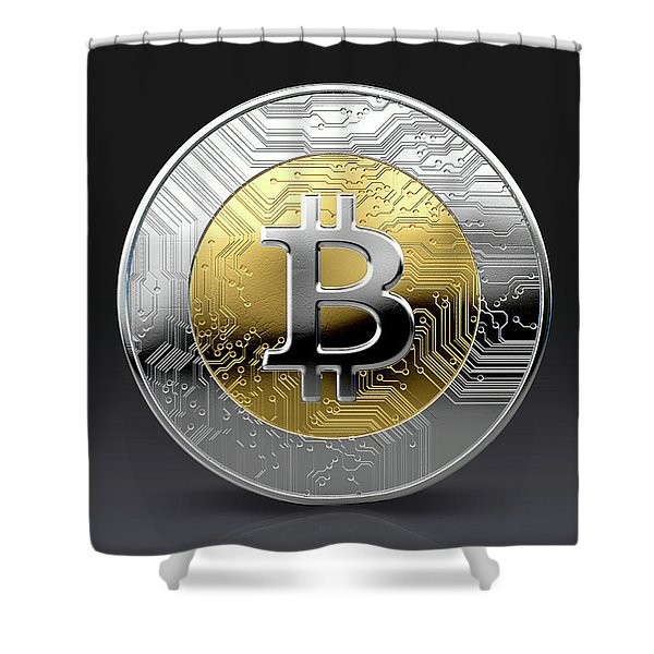 Cryptocurrency Physical Coin Shower Curtain