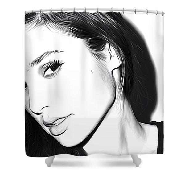 Gal Gadot Art Shower Curtain