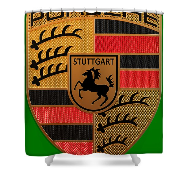 Porsche Label Shower Curtain