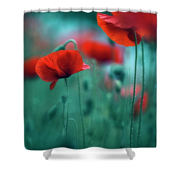 Poppy Meadow Shower Curtain