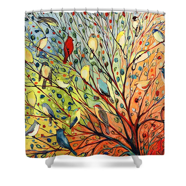 27 Birds Shower Curtain