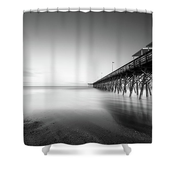 2nd Ave Pier Sunset Shower Curtain