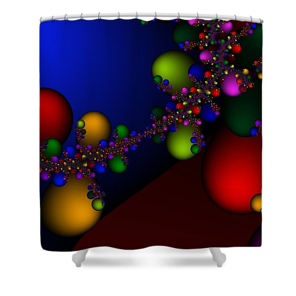 2x1 Abstract 330 Shower Curtain