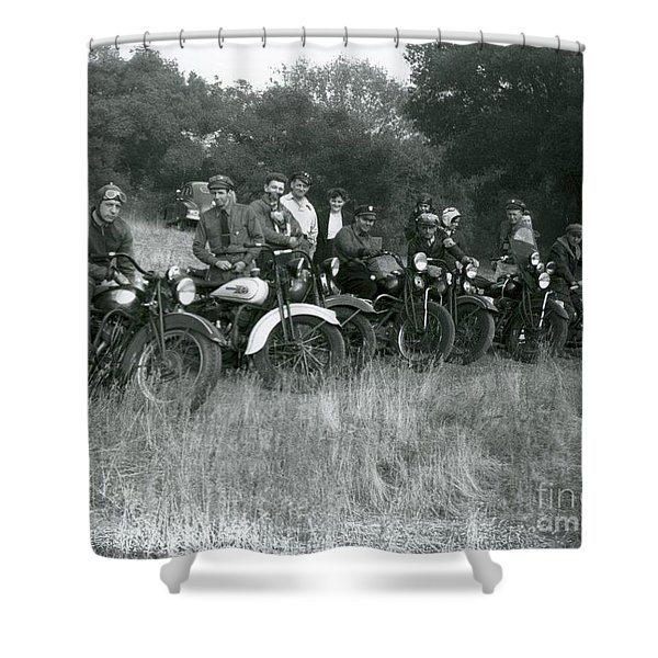 1941 Motorcycle Vintage Series Shower Curtain
