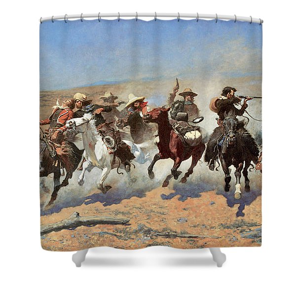 A Dash For The Timber Shower Curtain