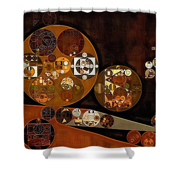 Abstract Painting - Attack Shower Curtain