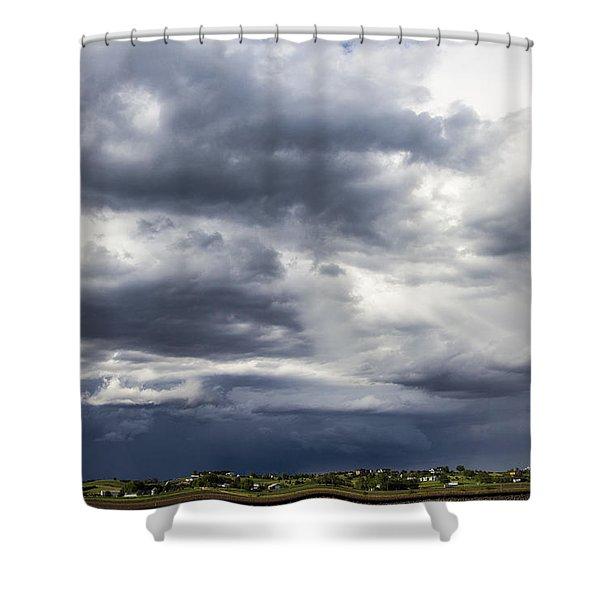 Afternoon Nebraska Thunderstorm Shower Curtain