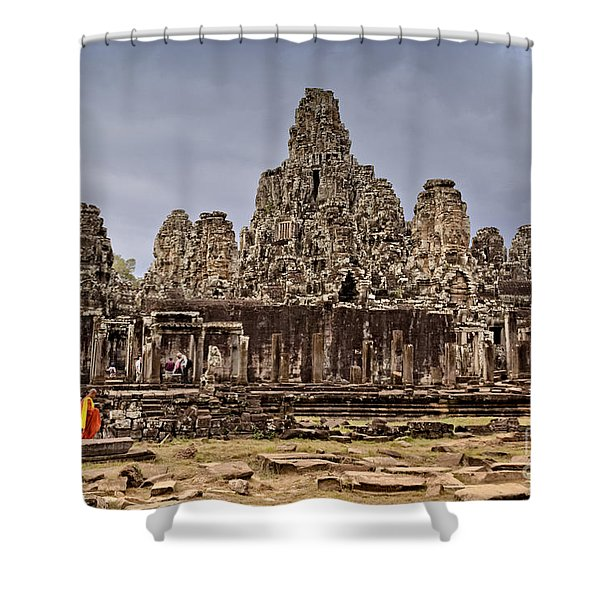 Shower Curtain featuring the photograph Angkor Wat by Juergen Held