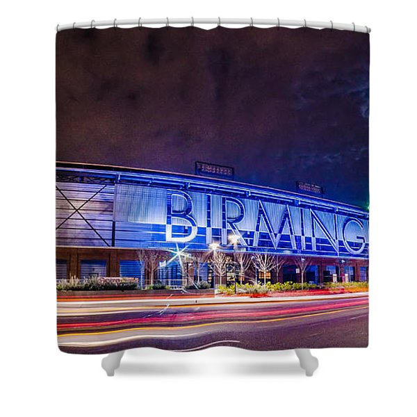 April 2015 - Birmingham Alabama Regions Field Minor League Baseb Shower Curtain