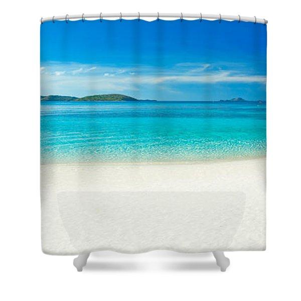 Beach Panorama Shower Curtain