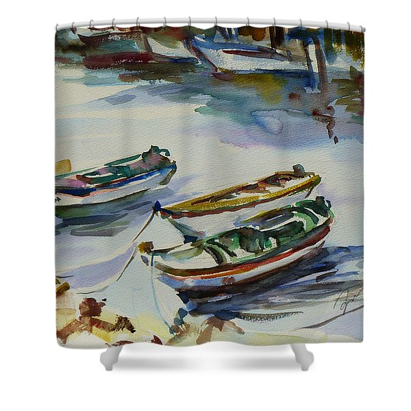 3 Boats I Shower Curtain