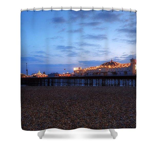 Brighton At Night Shower Curtain