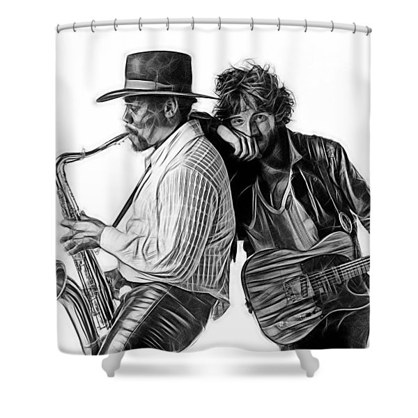 Bruce Springsteen Clarence Clemons Collection Shower Curtain