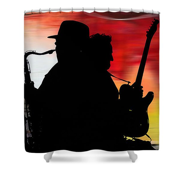 Bruce Springsteen Clarence Clemons Shower Curtain