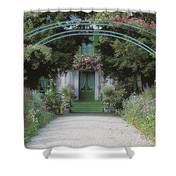 Claude Monet's Garden At Giverny Shower Curtain
