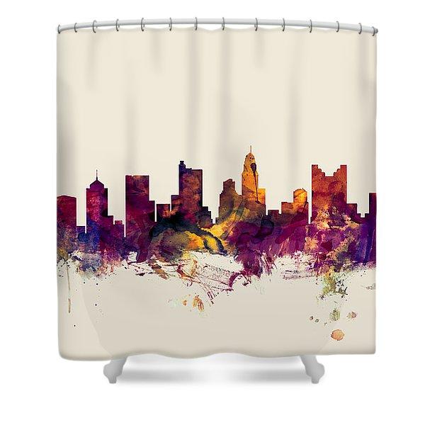 Columbus Ohio Skyline Shower Curtain