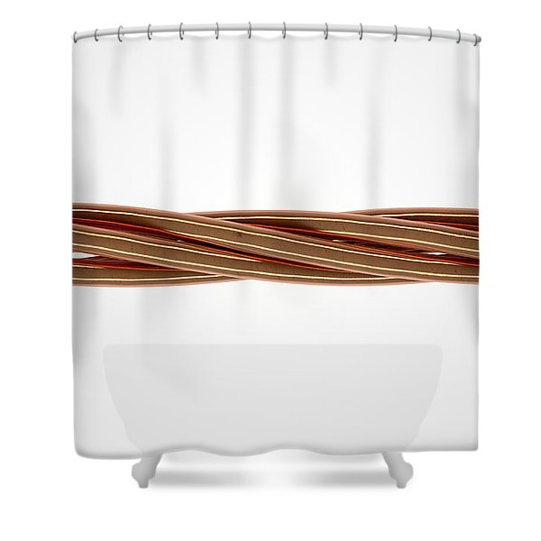 Copper Wire Strands Shower Curtain
