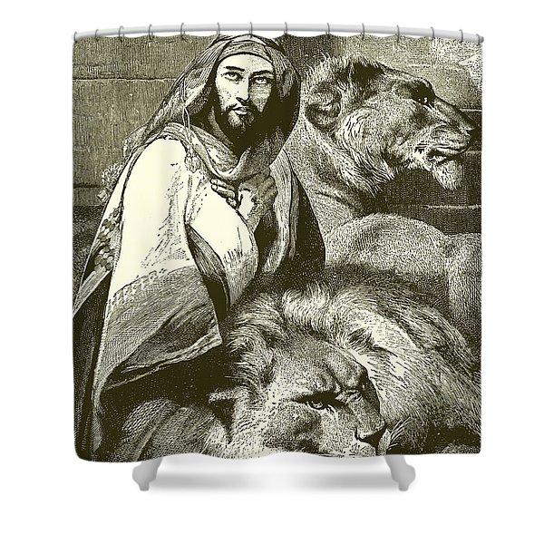 Daniel In The Lions Den Shower Curtain