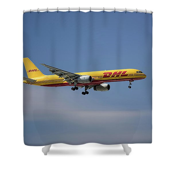 Dhl Boeing 757-236 Pcf Shower Curtain