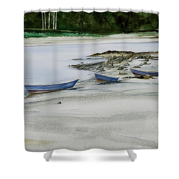 3 Dories Kennebunkport Shower Curtain