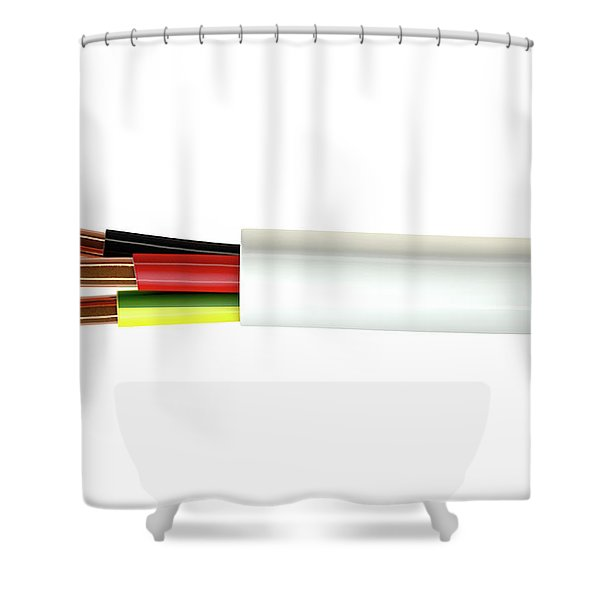 Electrical Cable Shower Curtain