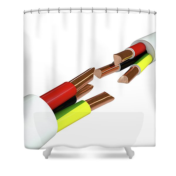 Electrical Cable Cut Shower Curtain