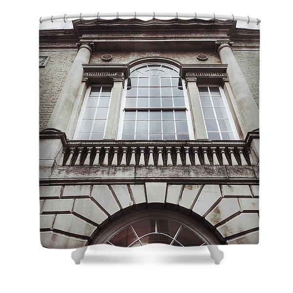 English Buildings Detail Shower Curtain