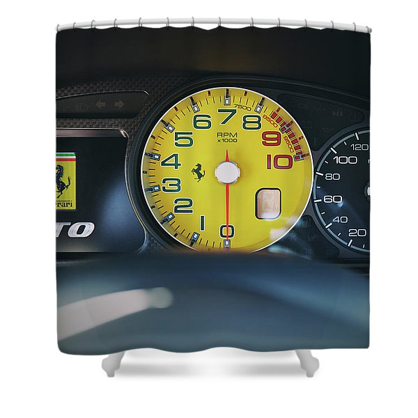 #ferrari #599gto #print Shower Curtain