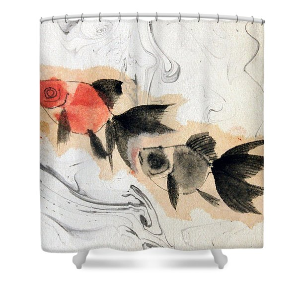 Floating 12030005 2fy Shower Curtain